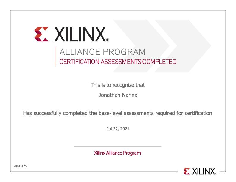 Xilinx certificate